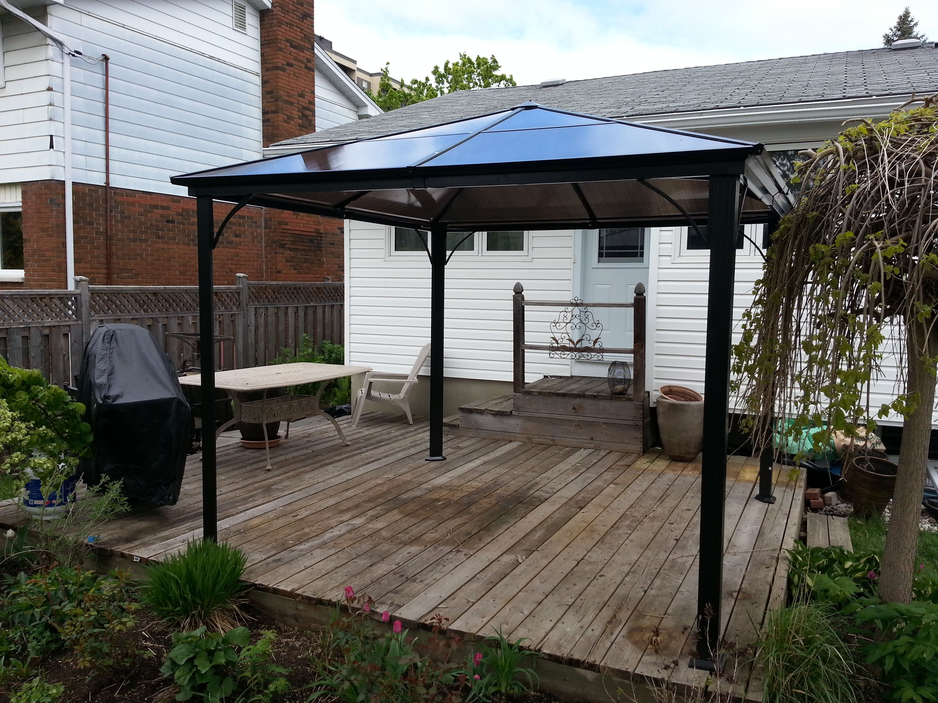 Clarkson gazebo gazebo assemblies pinterest for Terrace gazebo