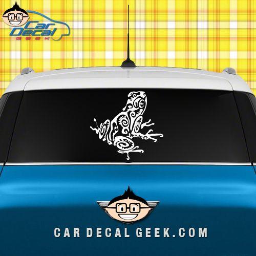 Tribal frog car window decal sticker wildlife decals