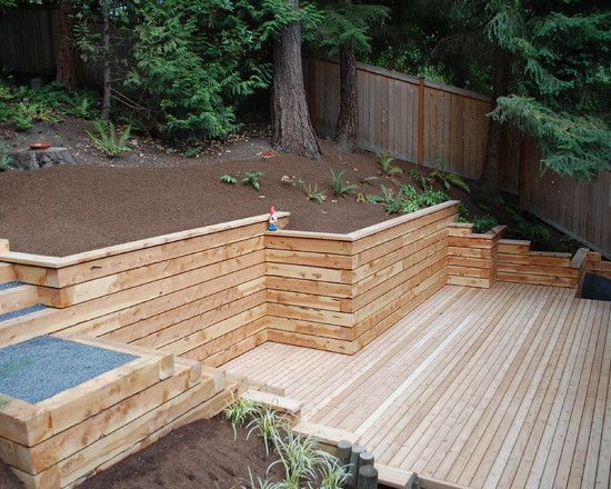 timber retaining walls design pictures remodel decor and ideas - Design Retaining Wall