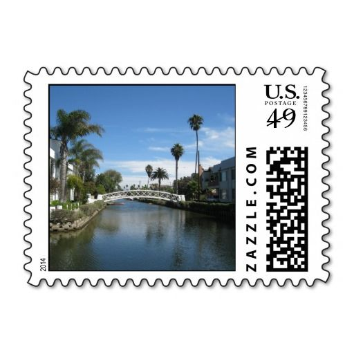 venice beach canals postage