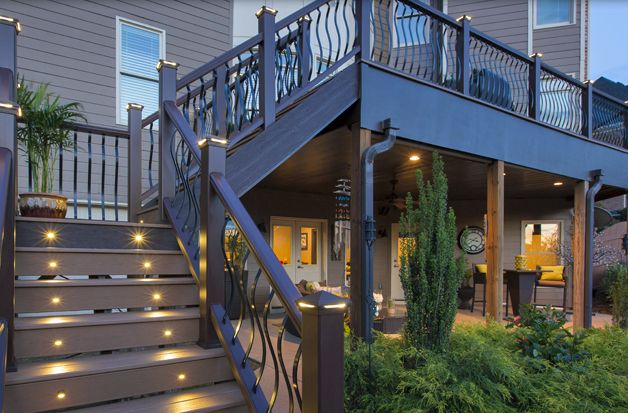 As an underdecking option trex rain escape expands your for Deck designs over walkout basement