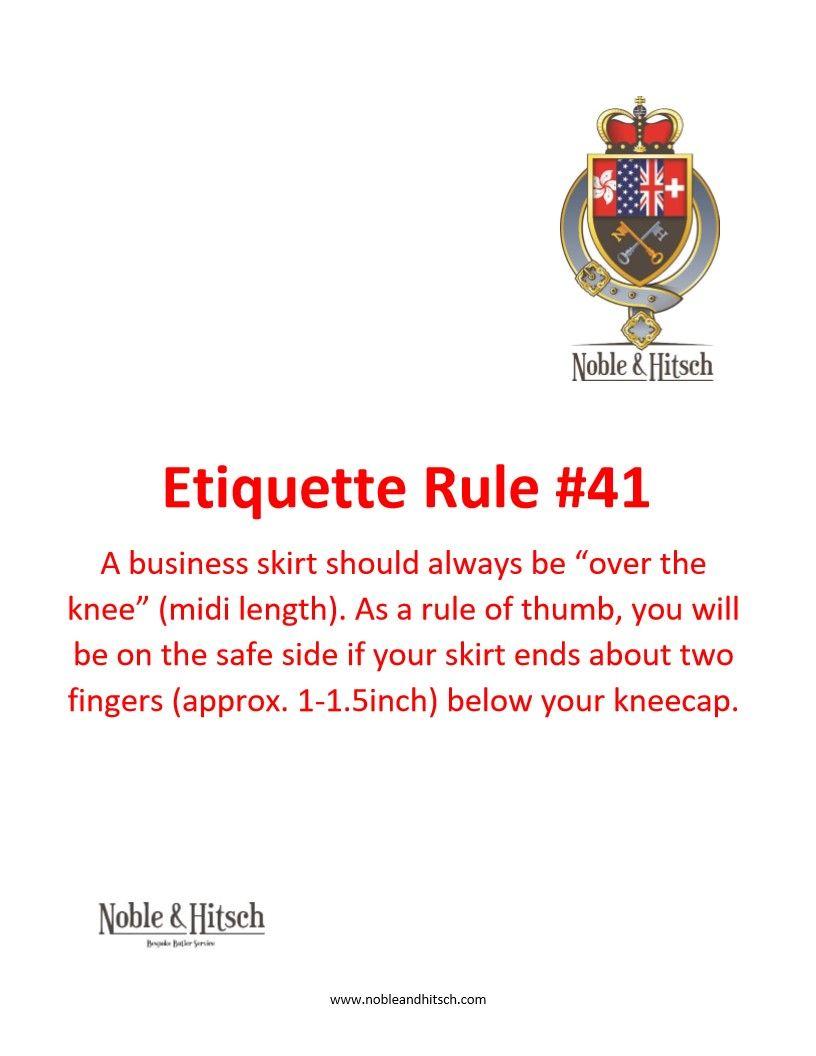 Etiquette As I Learned It