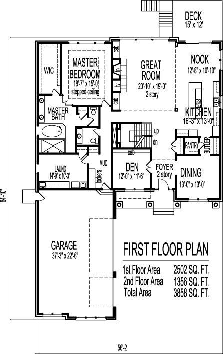 Craftsman Bungalow House Plans 3800 Sf 2 Story 4 Bedroom