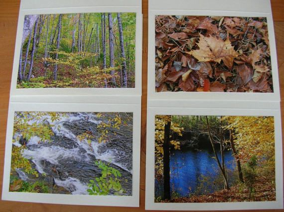 Photo Note Cards Set of 4 Series At the River by PanchosPorch