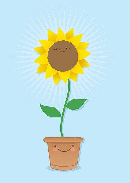 Sunflower Dibujos Ilustraciones Girasoles Dibujo