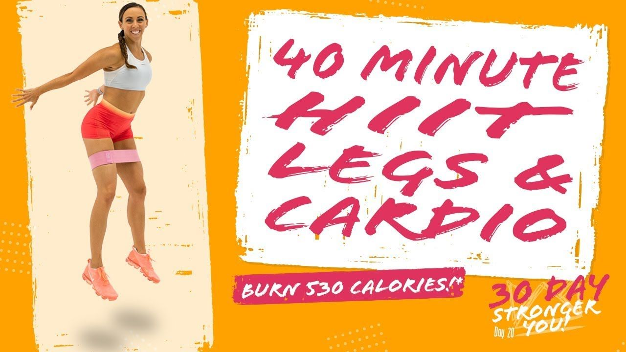 40 minute hiit legs and cardio workout burn 530 calories