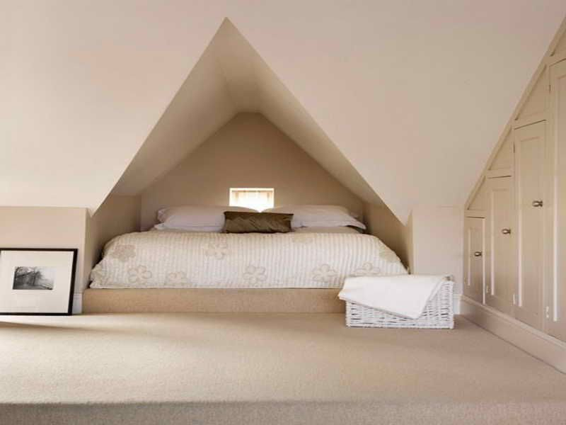 Decorating Attic Rooms decorate an attic bedroom:inspiring bedroom niche design ideas