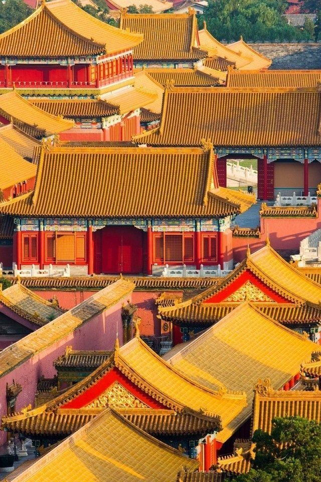 Forbidden City Beijing China Loved The Peacefulness Beauty Here The Roof Color Tells You The Class In Society China Travel Beijing China Forbidden City