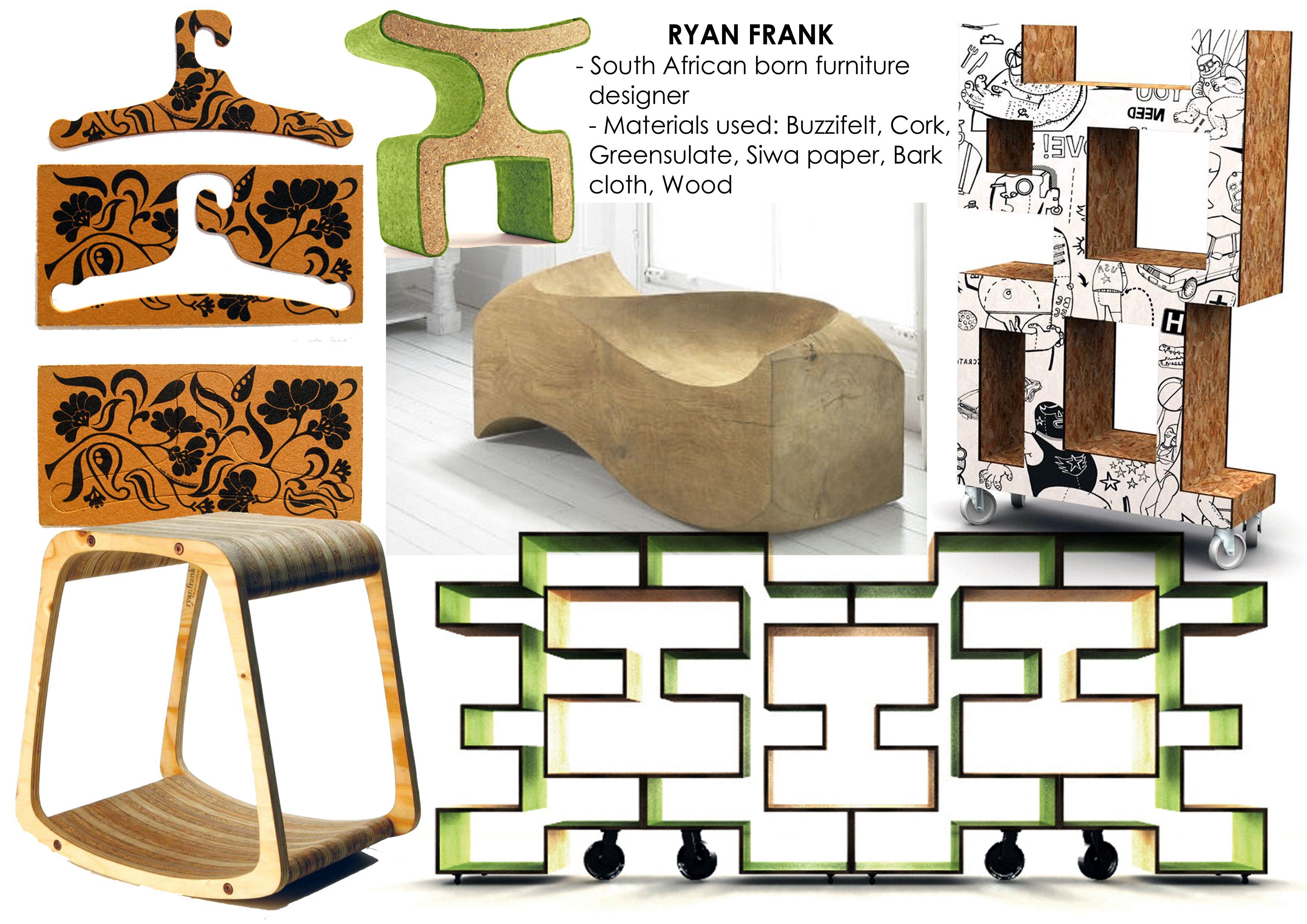 ryan frank furniture designer environ aware designs rh pinterest com