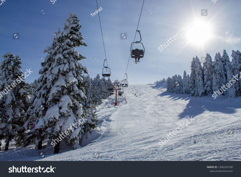Winter Ski Resort Ski Lift People Skiing Uludag Mountain Bursa Turkey Ad Affiliate Li Presentation Design Template Presentation Design Design Template