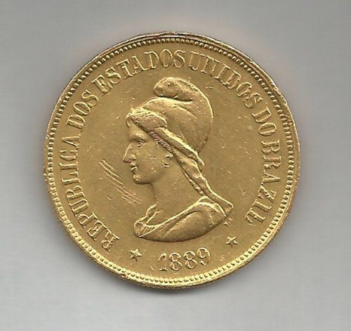Brazilian coin from 1889