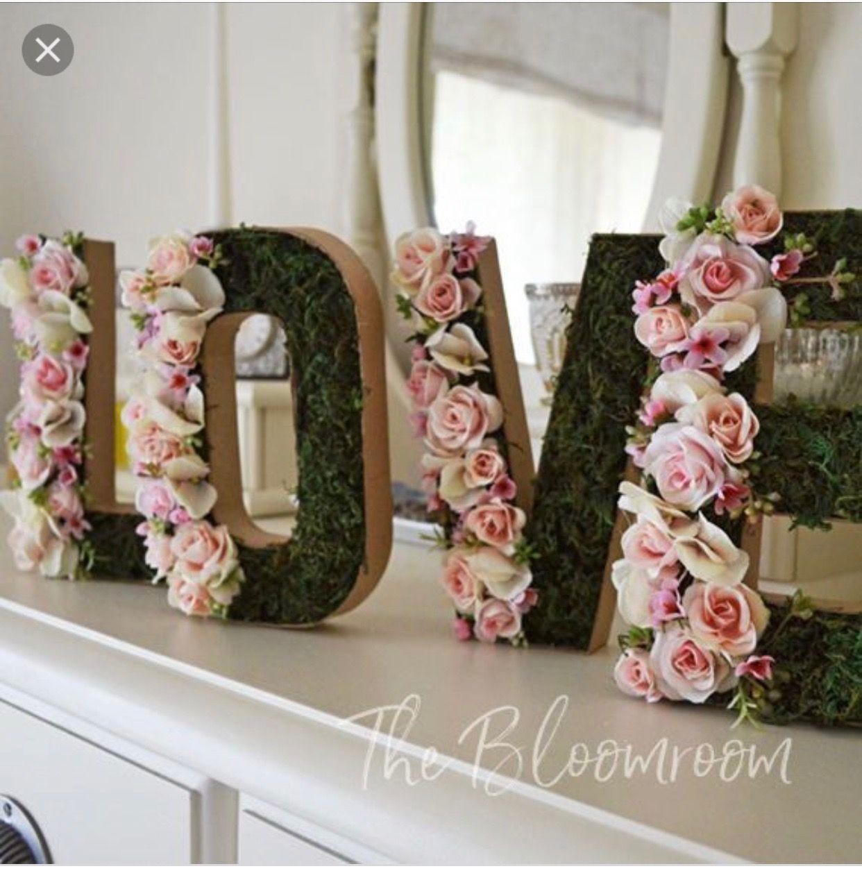 flower letters moss letters bridal shower baskets bridal shower crafts bridal shower