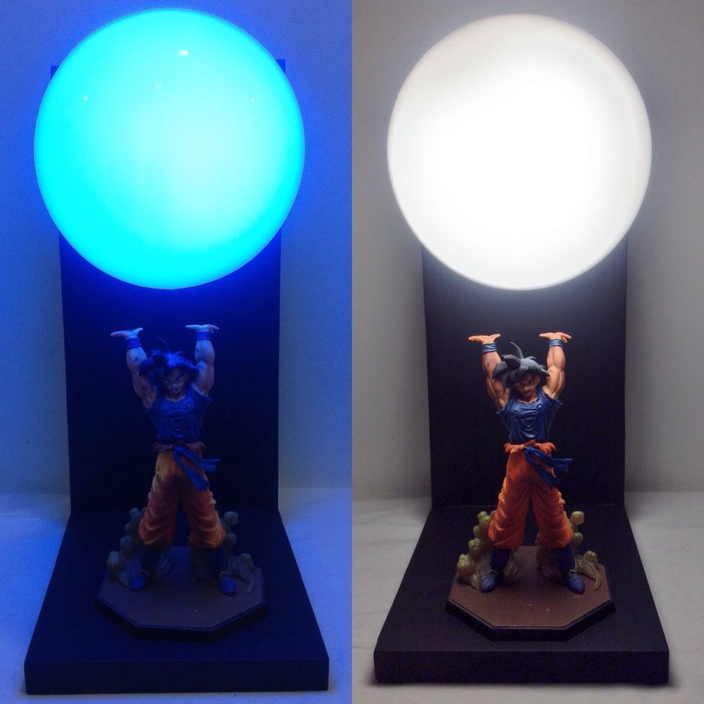 Deluxe goku spirit bomb lamp dragonball z lamp dragon ball
