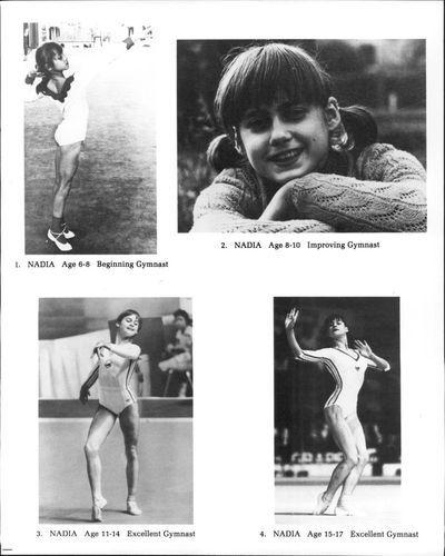 1983 Comaneci Nadia Gymnast Romania Press Photo | eBay