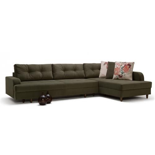BIBLIO Corner Sofa Bed With Storage | Turkish Export ...