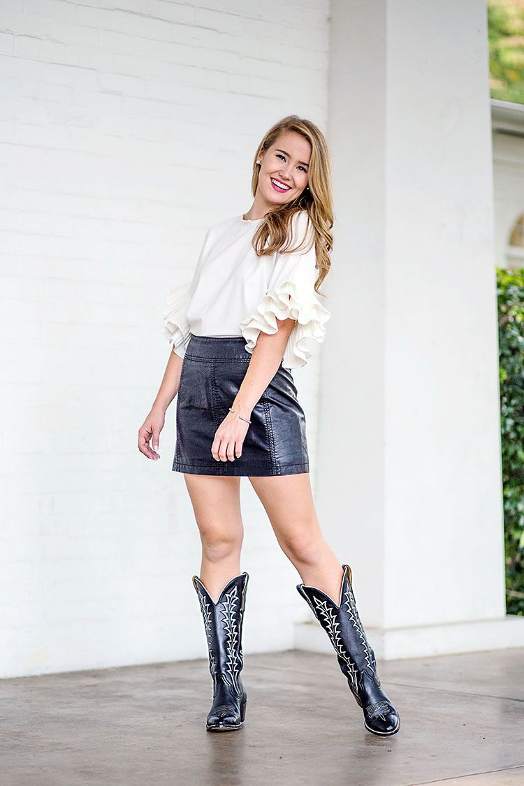 a94a2653f62 my favorite cowboy boots | texas | Skirts with boots, Fashion ...