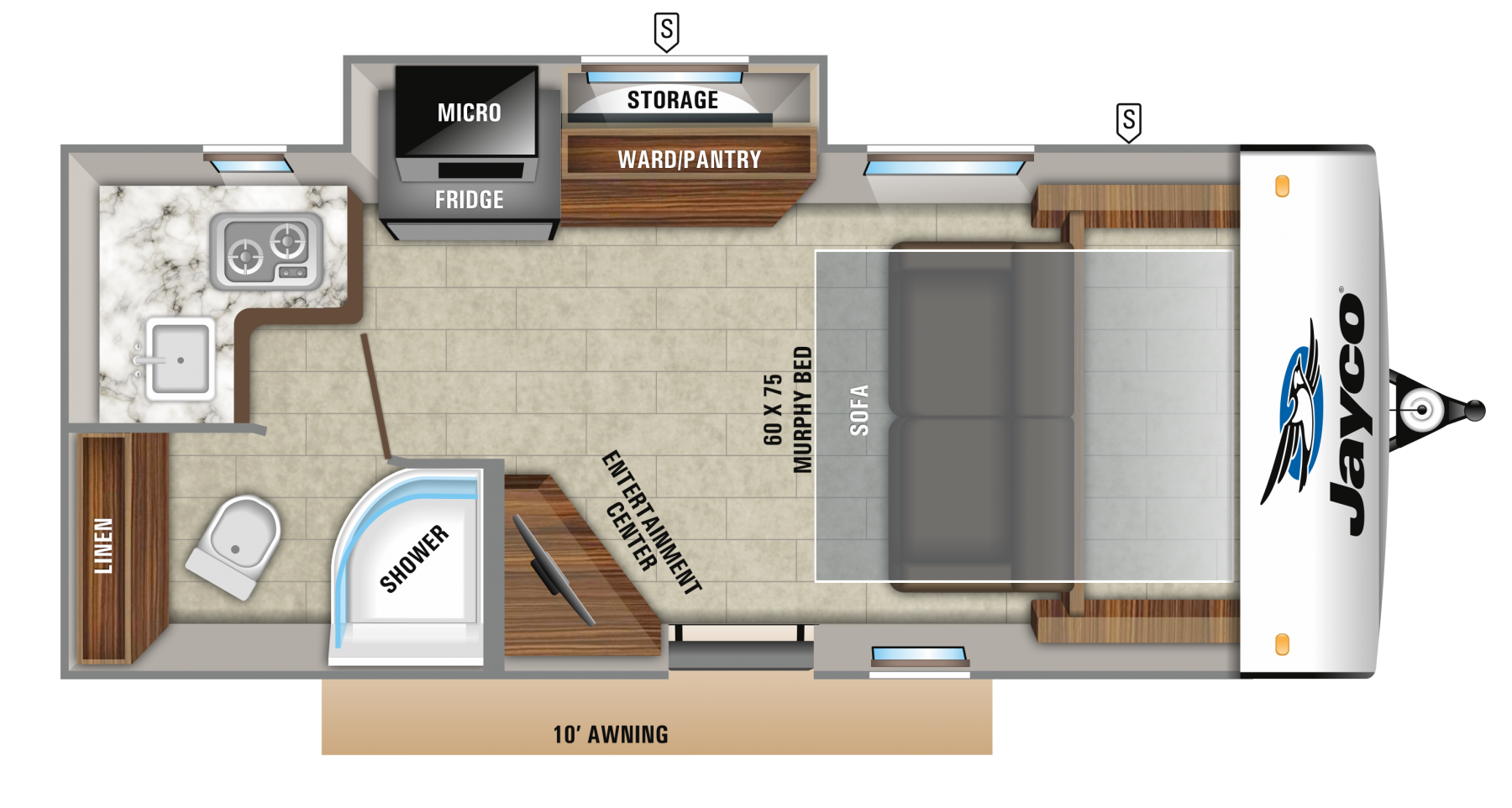 2019 Jayco Hummingbird Floor Plans Rv Floor Plans Travel