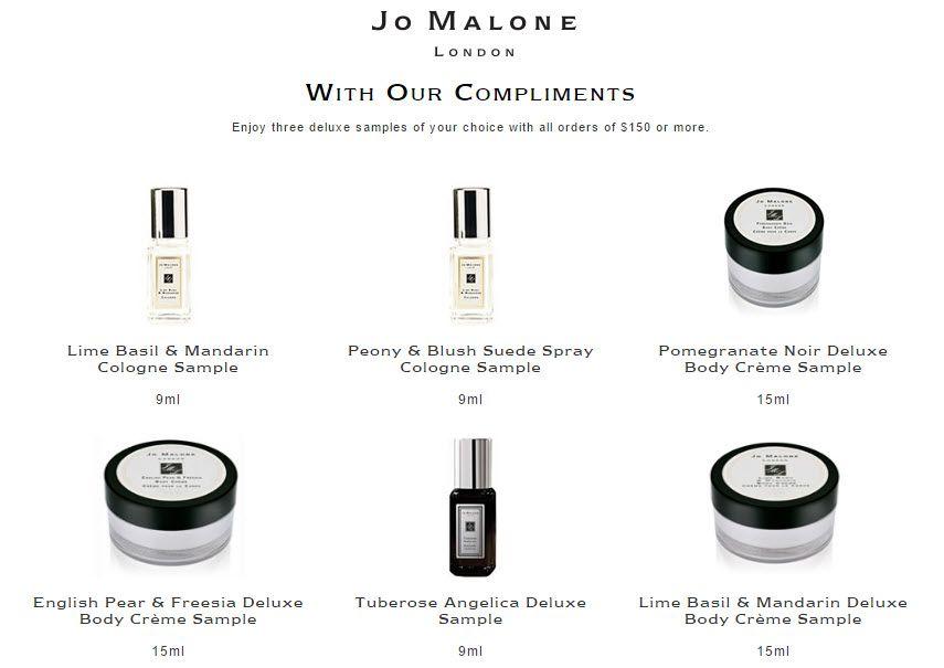 Jo Malone 3 Piece Free Bonus Gift With 150 Purchase At Jo Malone
