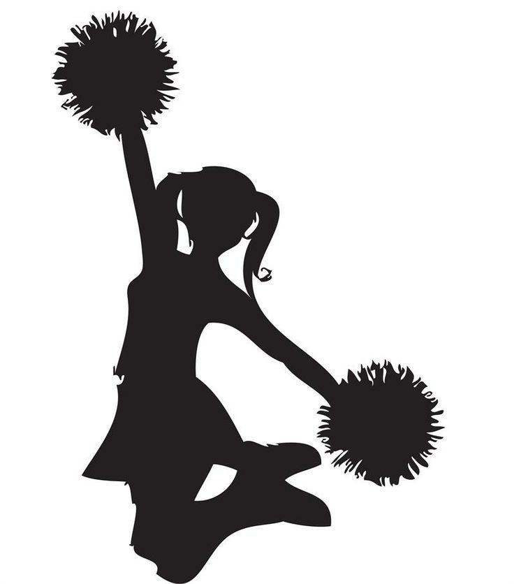 cheerleader 20clip 20art clip art pinterest cheer rh pinterest com Hunting Clip Art Black and White cheerleader clipart black and white free