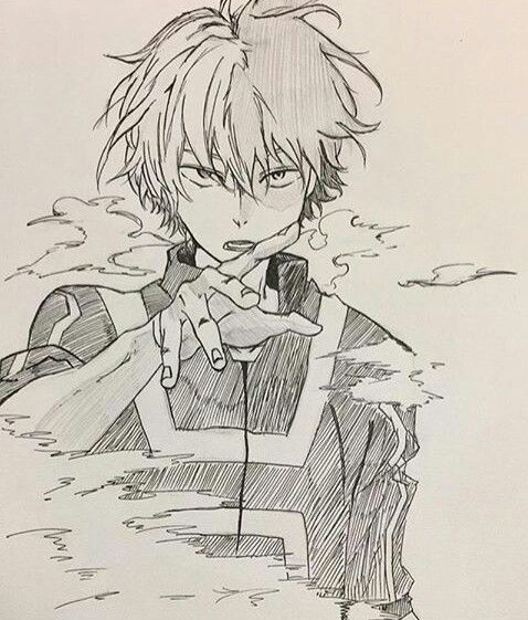 Boku No Hero Academia Todoroki Shouto Hero My Hero Academia Manga Anime Sketch