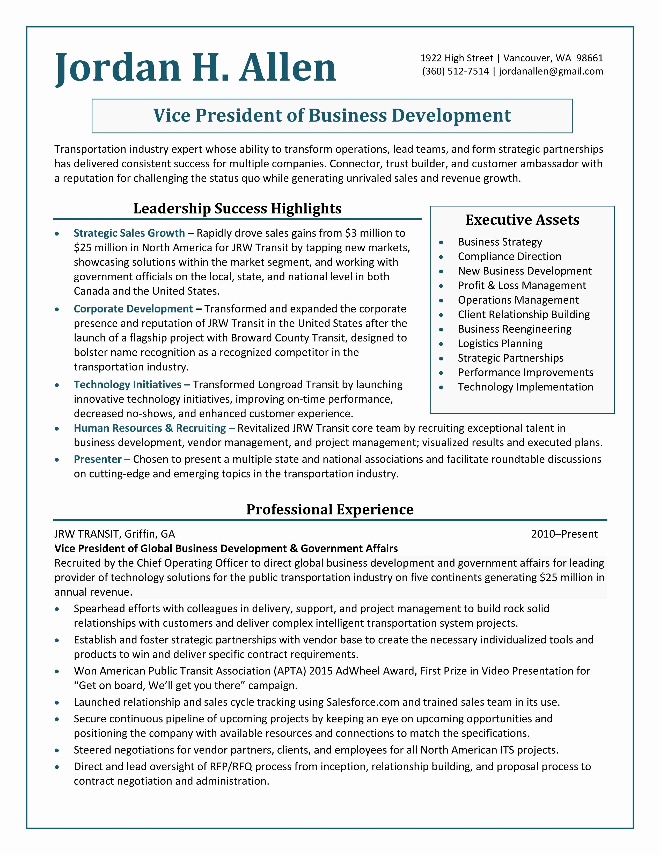 Best of professional resume samples by julie walraven cmrw