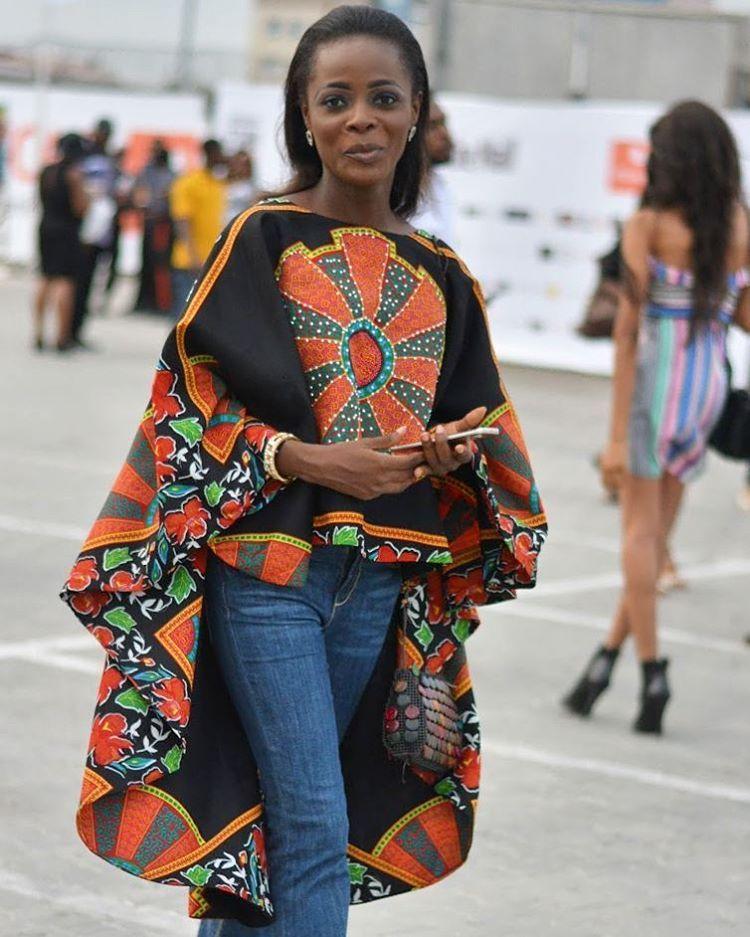 ankara tops jeans fashion frauenkleider afrikanisch mode und strickjacke. Black Bedroom Furniture Sets. Home Design Ideas