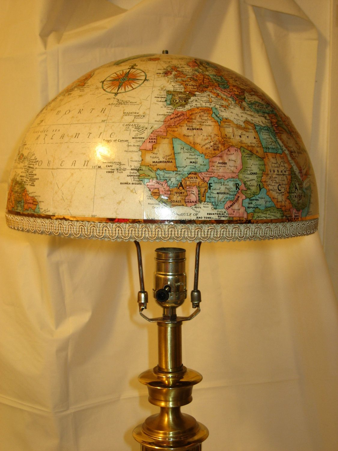 World globe lampshade do it myself pinterest globe craft and world globe lampshade aloadofball Image collections