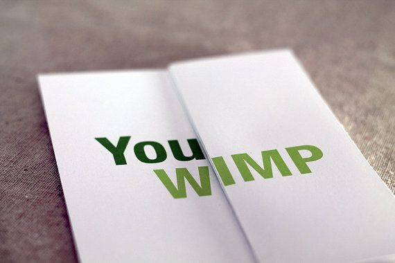 Funny Get Well Card / You Wimp | Etsy
