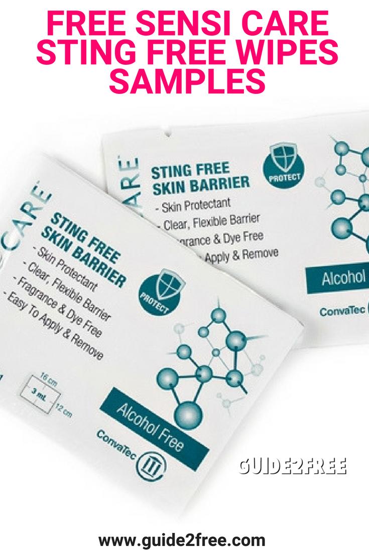 Free Sensi Care Sting Free Wipes Samples Proper Skin Care Wipes Skin Protection