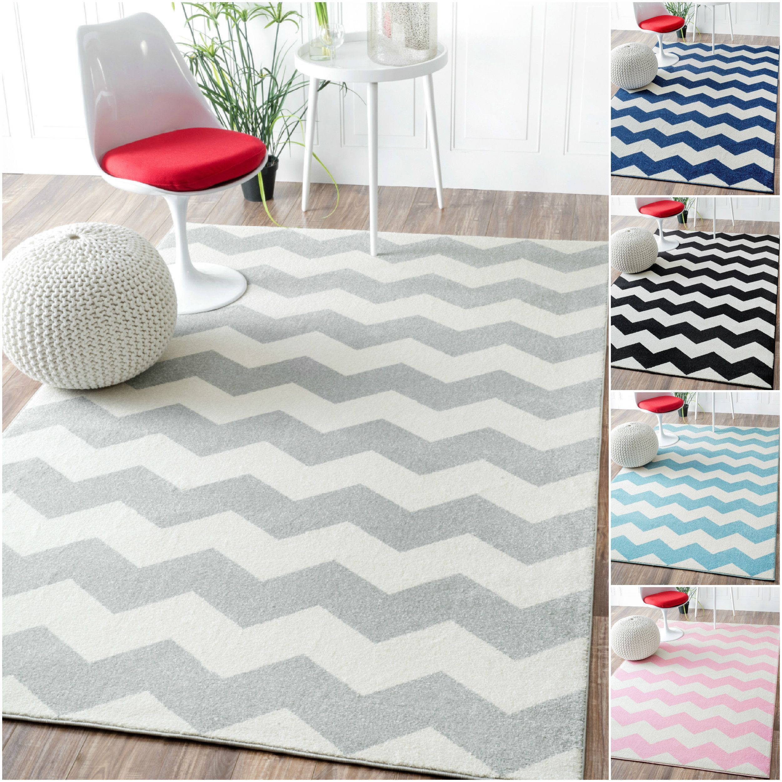 Nuloom Geometric Chevron Kids Rug 5 3 X 7 9 By