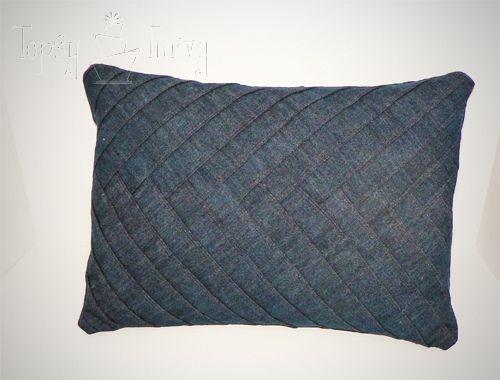 Denim Herringbone pillow tutorial