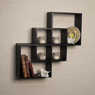 Decorative Shelves For Walls danya b intersecting cube shelves - white | black wall shelves and