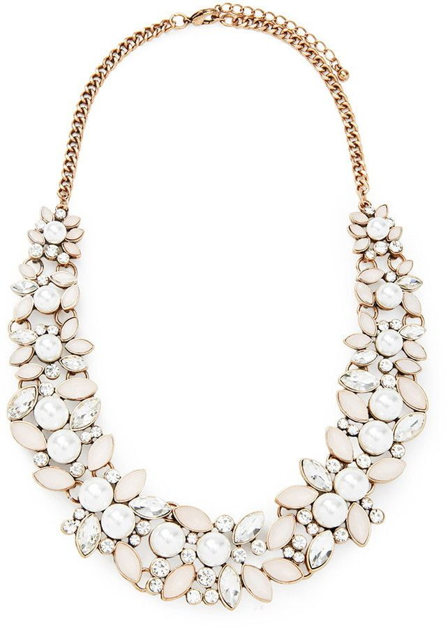 forever 21 faux stone statement necklace wedding day. Black Bedroom Furniture Sets. Home Design Ideas