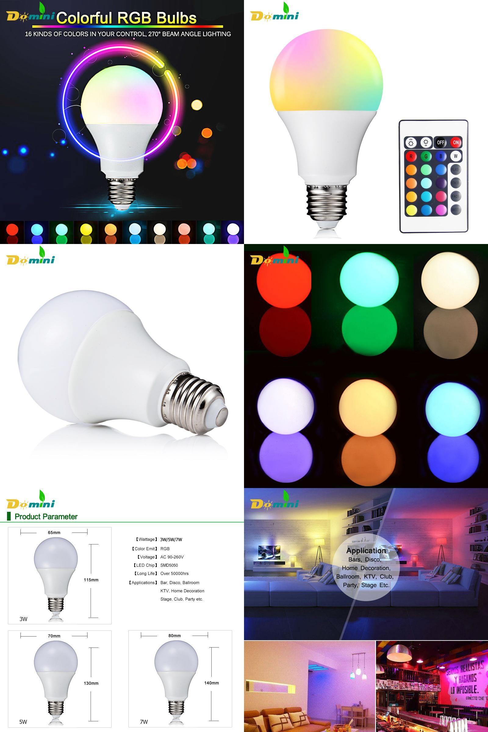 Visit To Buy Domini E27 Rgb Led Bulbs 3w 5w 7w Led Lamp Light