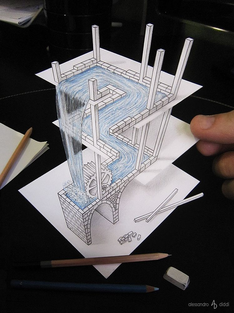 Anamorphic Optical Illusions That Look Like 3d Drawings Illusion Drawings 3d Art Drawing Cool Drawings
