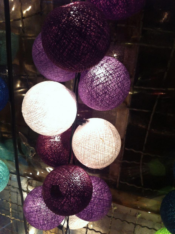 Wedding decoration ideas for bedroom   purple shaded color string light ball decor patio wedding