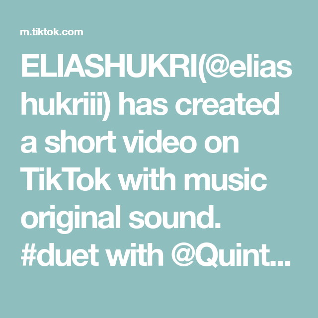 Eliashukri Eliashukriii Has Created A Short Video On Tiktok With Music Original Sound Duet With Quinton Price Wt In 2020 Crazy Funny Memes The Originals Wtf Funny