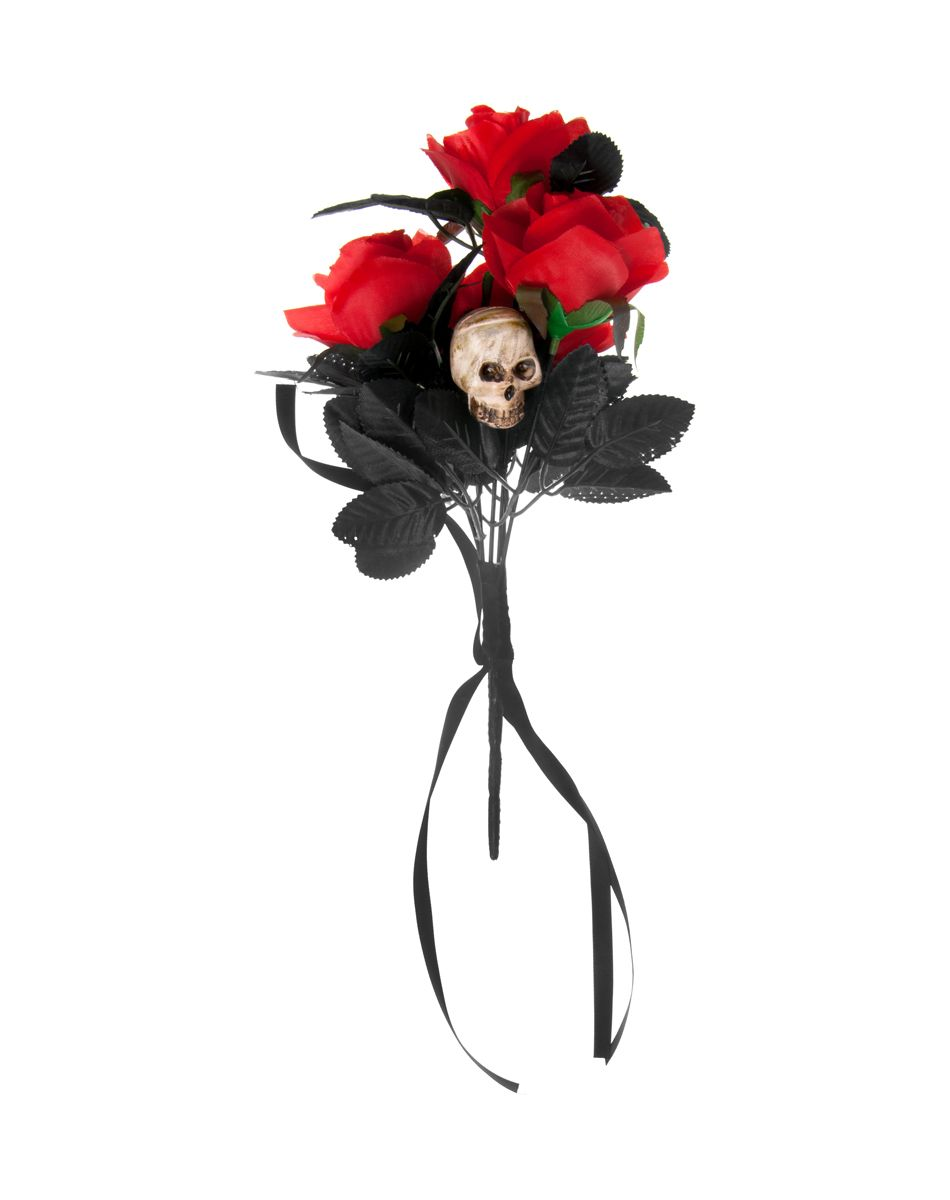 Day of the Dead Skull Rose Bouquet at Spirit Halloween - This Day of ...
