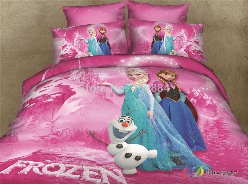 Frozen Kids Bedding Sets Elsa Anna Olaf Bed Sets Cotton Cheap Contain Duvet  Covers Flat Sheet Pillow Cases Home Textiles