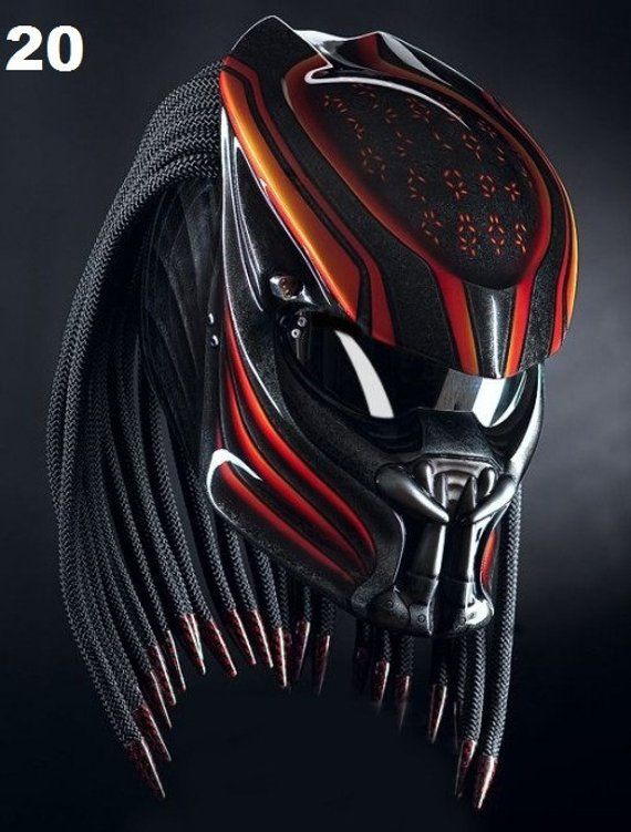 Predator Motorcycle Helmet Lava Fire Dot Ece Certified