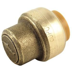 Sharkbite 1 2 In Brass Ptc End Stop U514a At The Home Depot Pex Tubing Copper Tubing Lead Free