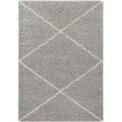 Photo of benuta Hochflorteppich Beni Grau 160×230 cm – Berber Teppich benuta