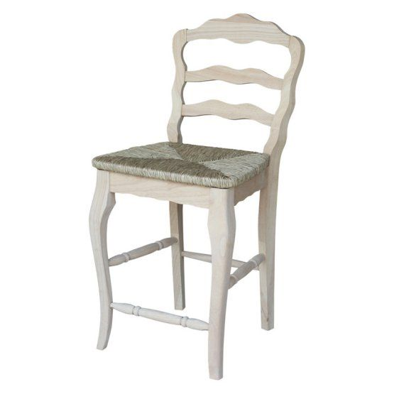 International Concepts Versailles Unfinished Counter Stool With Rush Seat    Pulling Up A Chair At Your Counter Height Table Never Looked Better   Thank  You, ...
