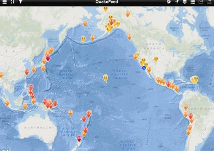 Do you use an earthquake app quakefeed is an app that looks best on quakefeed is an app that looks best on an ipad this application will reveal the latest earthquakehhg news in a visual manner which also contains a map gumiabroncs Images