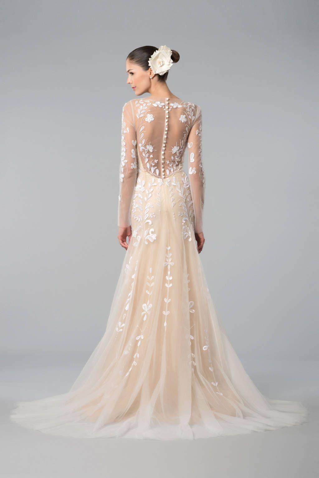 Rose colored wedding dress  Best in Fall  Bridal Lela Rose  Carolina herrera Wedding
