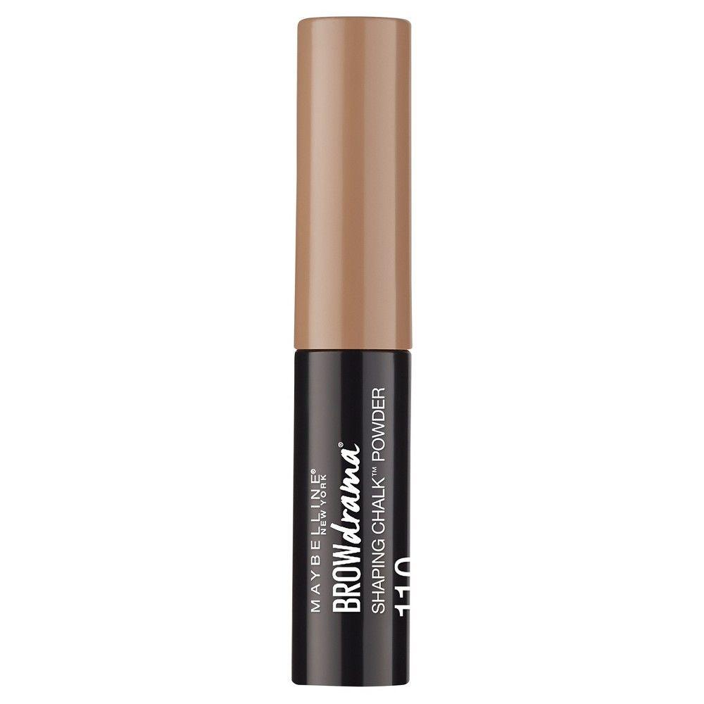 Maybelline Eye Studio Browdrama Chalk Powder 110 Soft Brown - 0.035oz, Brown Taupe