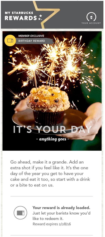 Erkunde Alles Gute Zum Geburtstag, Starbucks Und Noch Mehr! Starbucks Happy  Birthday Email.
