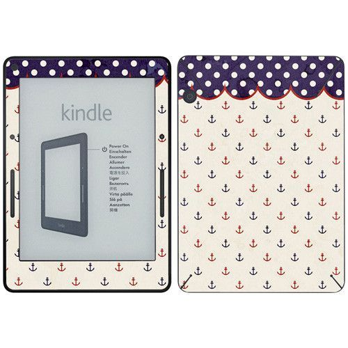 Anchors Away Bib Kindle Decal Skin