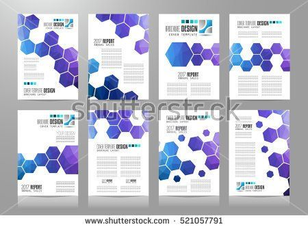Set of Brochure templates, Flyer Designs or Depliant Covers for