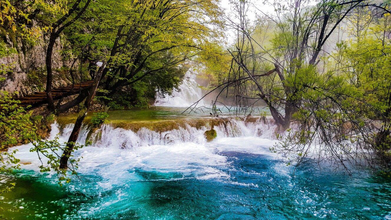 Plitvička Jezera, Croatia Croatia, Water, Waterfall